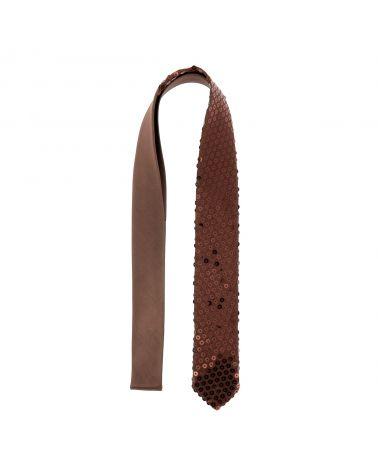 Cravate Paillette Marron