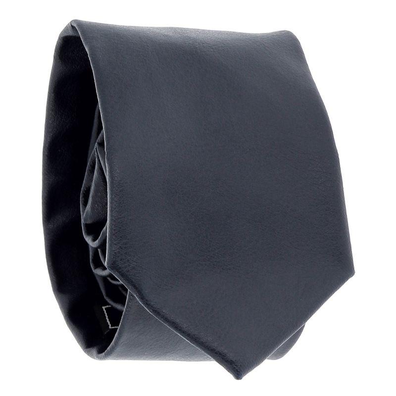 Cravate Simili cuir Bleu marine