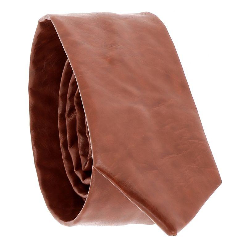 Cravate Simili cuir Camel