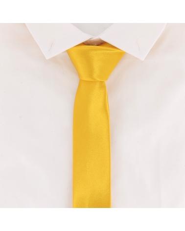 Cravate Slim Jaune orange