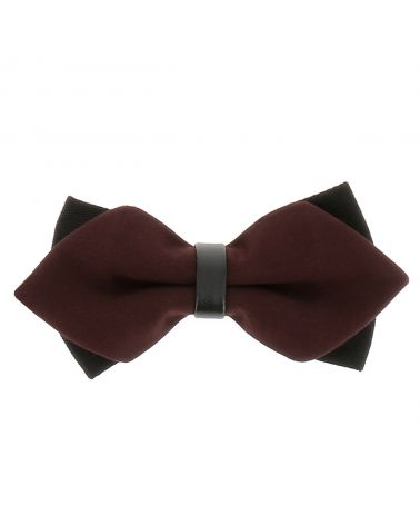 Noeud Papillon Marron Double