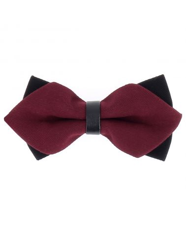 Noeud Papillon Bordeaux Double