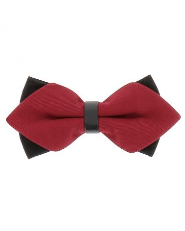 Noeud Papillon Rouge Double