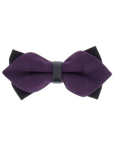Noeud Papillon Violet Double