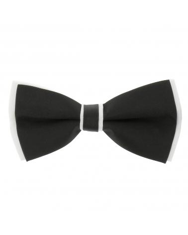 Noeud Papillon Bicolore Noir et Blanc n°2