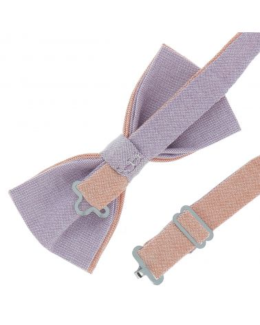 Noeud Papillon Pastel Orange et Parme