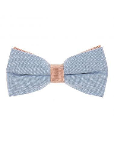 Noeud Papillon Pastel Bleu et Orange