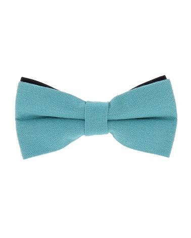 Noeud Papillon Coton Bleu turquoise