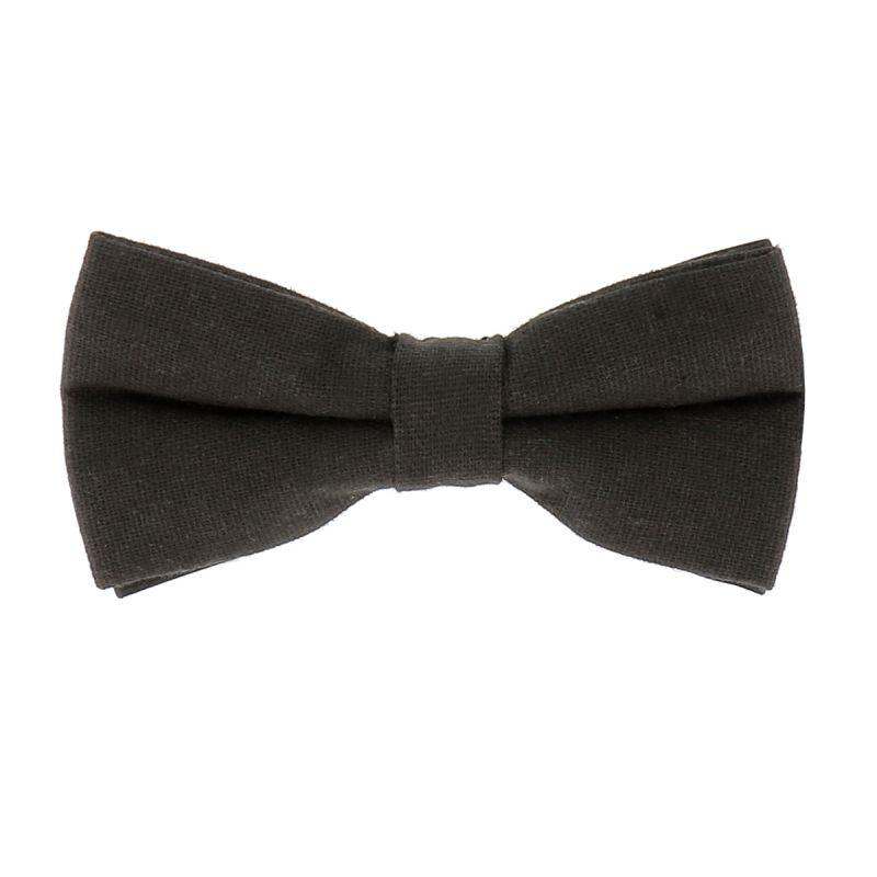 Noeud Papillon Coton Noir